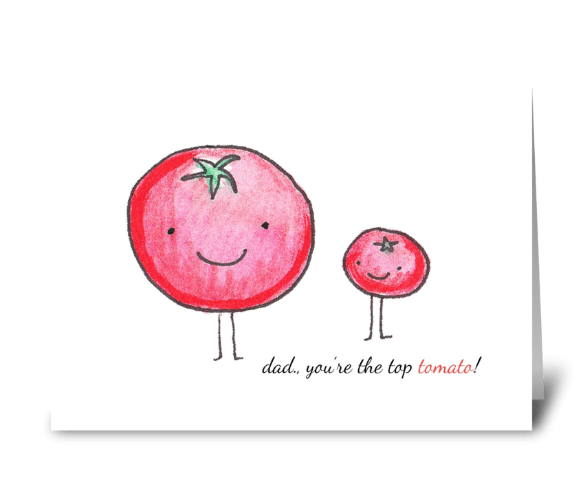 Top Tomato greeting card