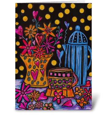 February Table greeting card