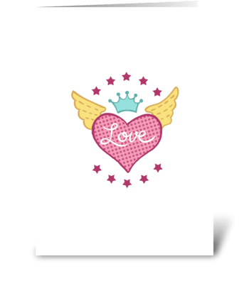 Winged Heart greeting card