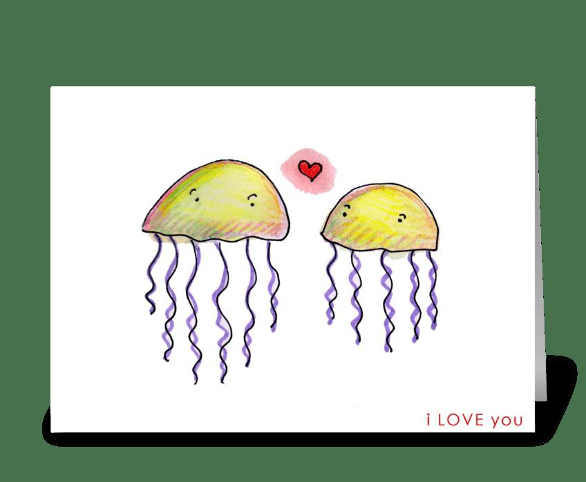 Jellyfish Love greeting card