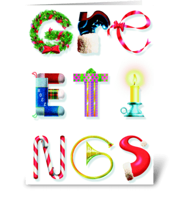 Greetings greeting card