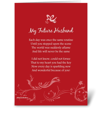 My Future Husband greeting card