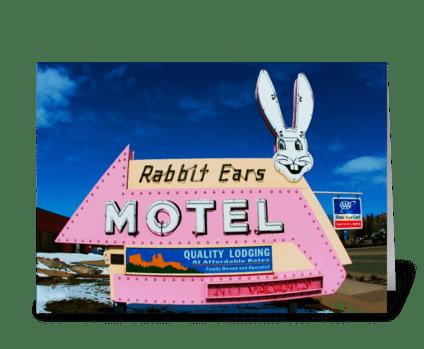 Rabbit Ears Motel greeting card