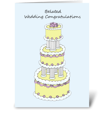 Belated Wedding Congratulations greeting card
