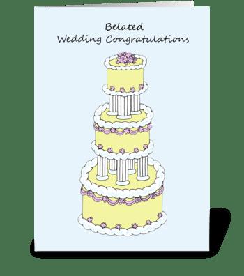 Belated Wedding Congratulations greeting card