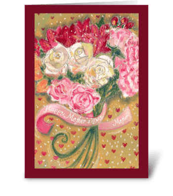 Mother's Day Floral Bouquet for Mother greeting card