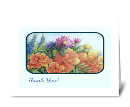 """Marigolds"" greeting card"