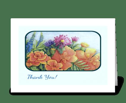 """Marigolds"" greeting card"