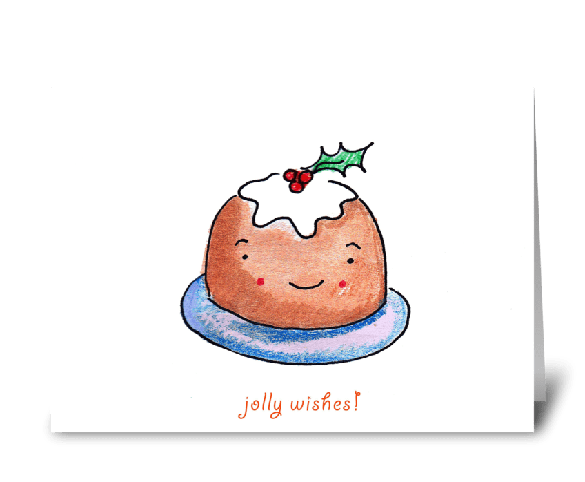 Jolly Pudding greeting card