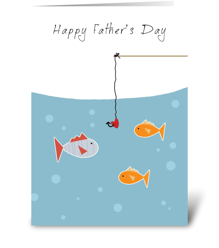 Father's Day Fishies greeting card