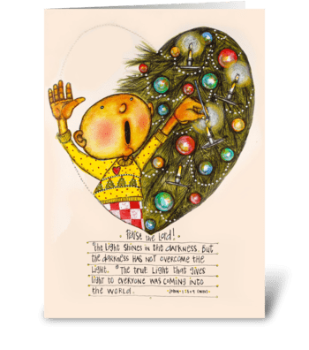 Christmas Light greeting card