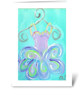 Little Girl Beauty and Grace greeting card