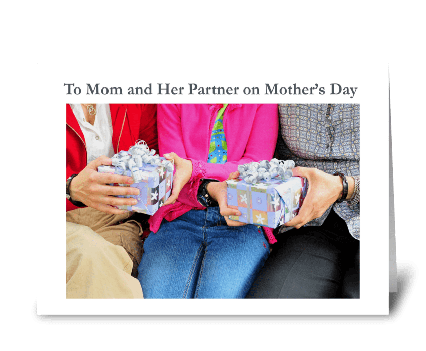 To Mom and Her Partner on Mother's Day greeting card