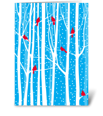Holiday Cardinals greeting card