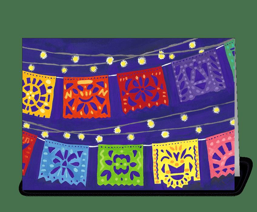 Fiesta Banners greeting card
