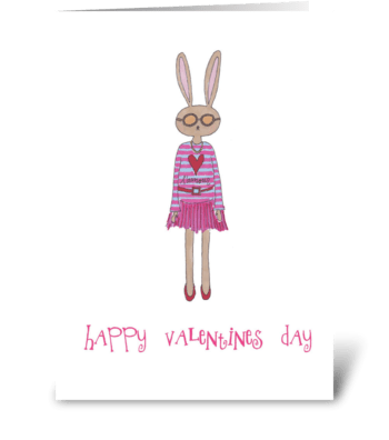 Bunny Amour greeting card