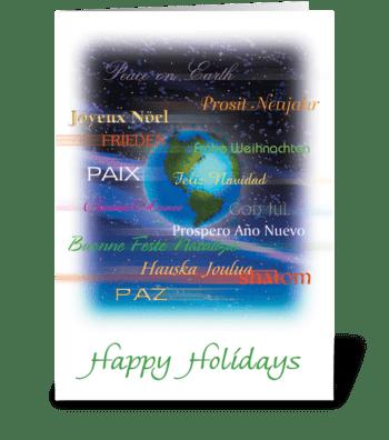 International greetings greeting card