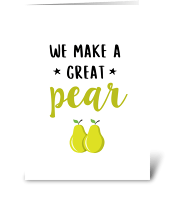 A great pear greeting card