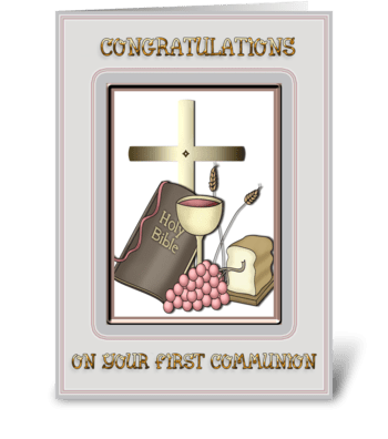 Communion Congratulations greeting card