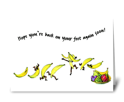 Get well bananas greeting card