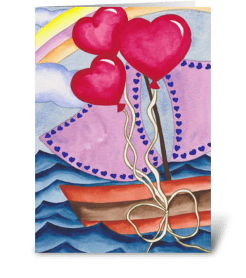love boat greeting card