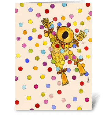 Bubbly Blast greeting card