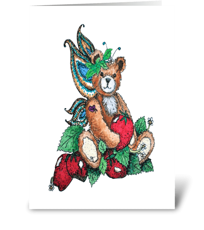 """Tidbit Fairy Bear"" greeting card"