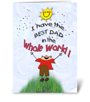 Birthday to Dad, from son greeting card