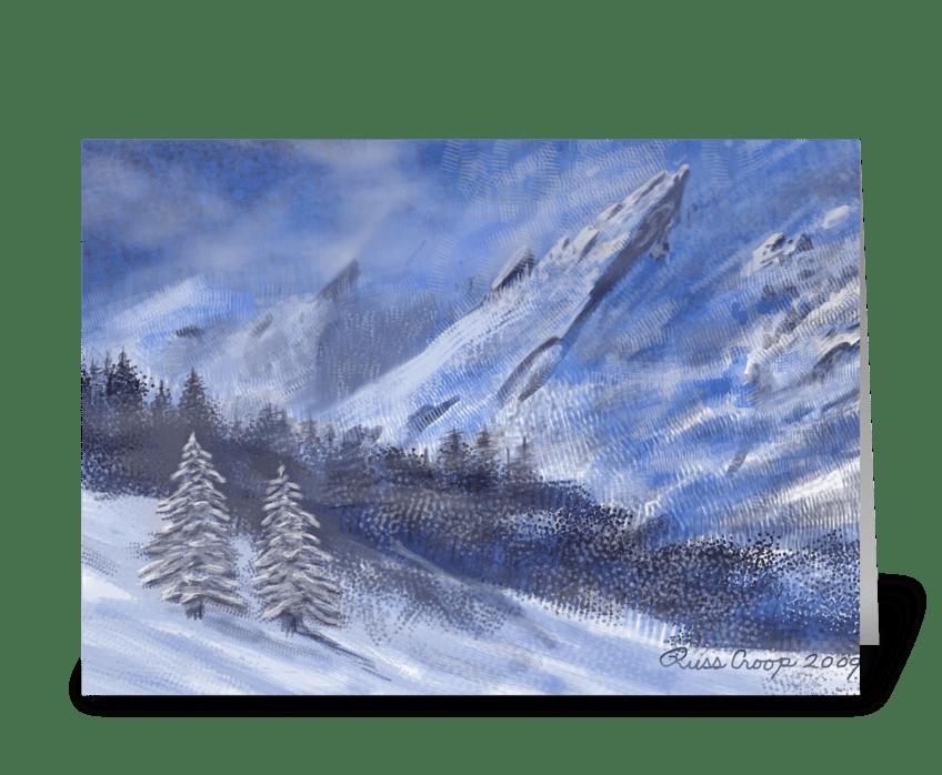 Flatirons Winter greeting card