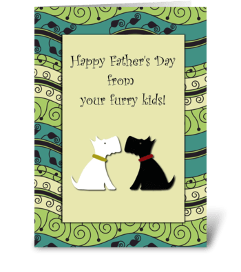 Happy Father's Day Dogs Card greeting card