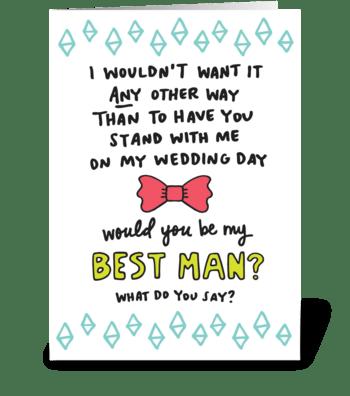 Best Man greeting card