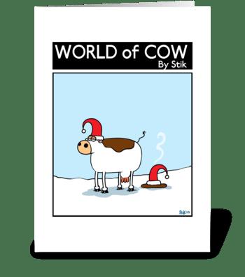 Christmas Cow Patty greeting card