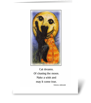 Cat Dreams greeting card