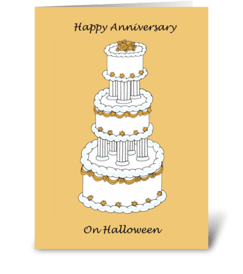 Halloween Anniversary greeting card