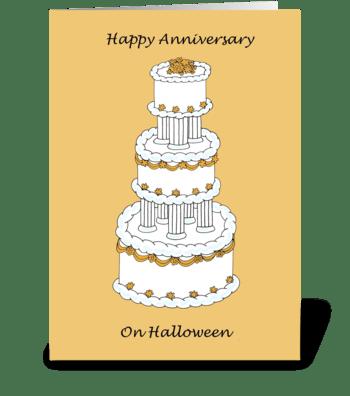 Halloween Anniversary greeting card