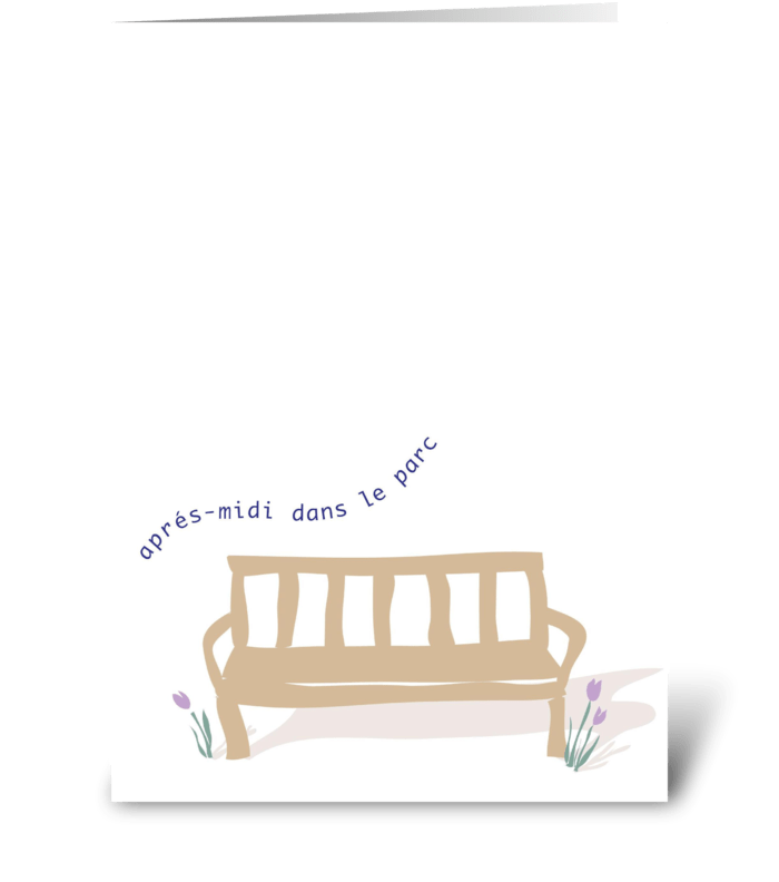 Oo-La-La - Apres-midi dans le parc greeting card