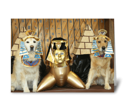 Golden Egyptian Birthday greeting card