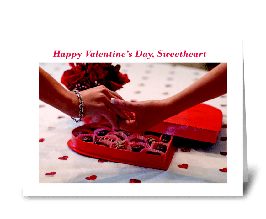 Happy Valentine's Day, Sweetheart greeting card