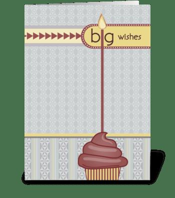 Big Wishes - Happy Birthday greeting card