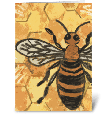 Bee Illustration greeting card