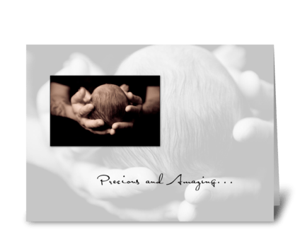 3614 Precious and Amazing Baby greeting card