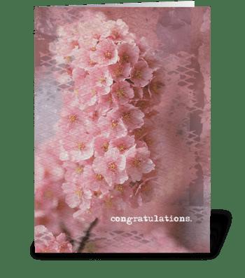 congratulations. greeting card
