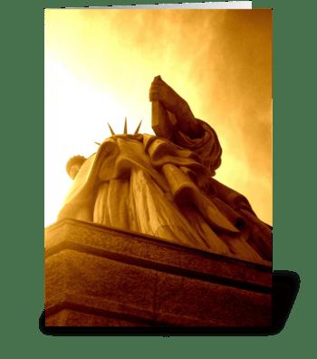 Golden Liberty greeting card