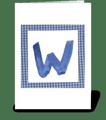 W - Baby Boy greeting card
