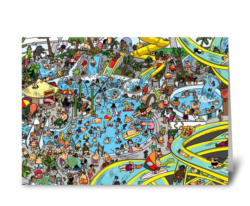 Where's the Deep sea Diver? greeting card