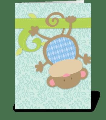 Baby Monkey greeting card