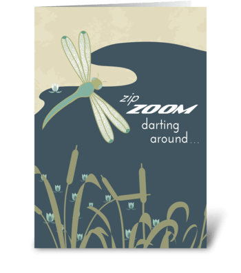 Zip Zoom Dragonfly - Happy Boss's Day greeting card