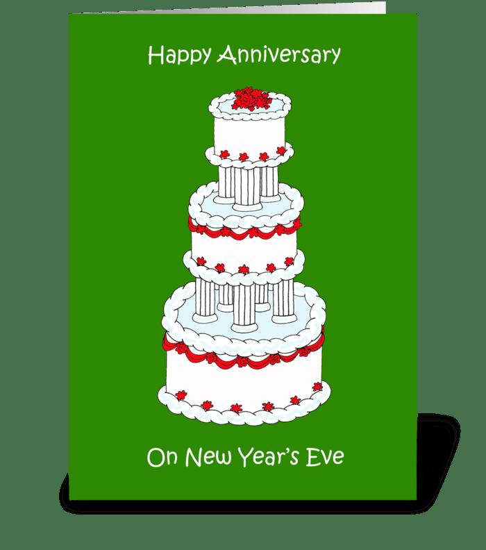 new years eve wedding anniversary greeting card