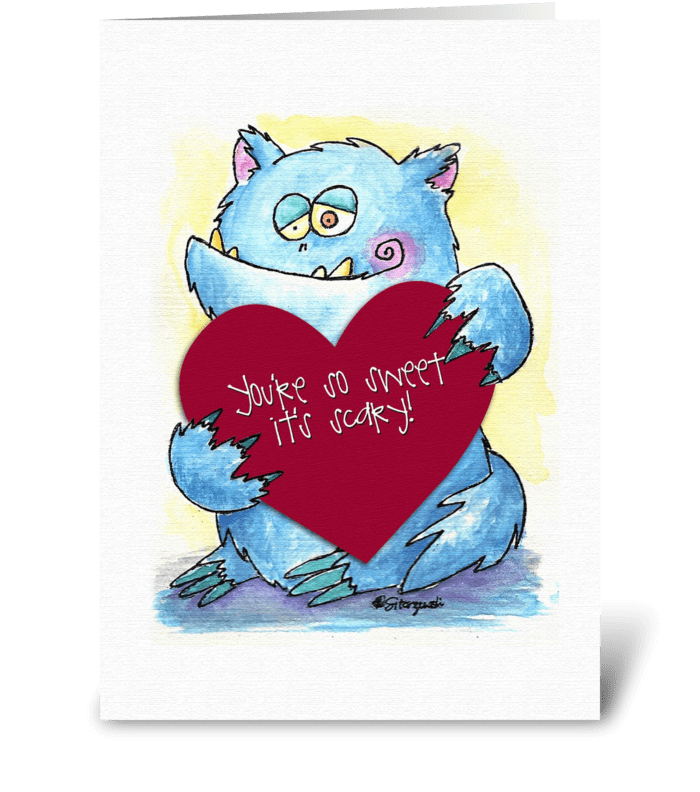 Monster Valentine greeting card