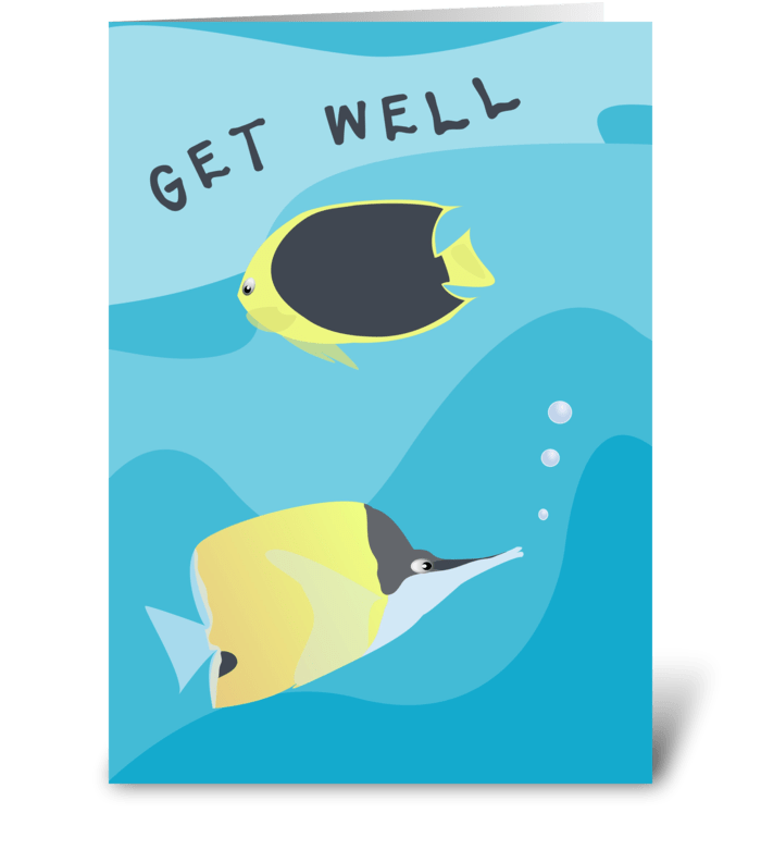 Tropical reef fish get well send this greeting card designed by tropical reef fish get well greeting card m4hsunfo